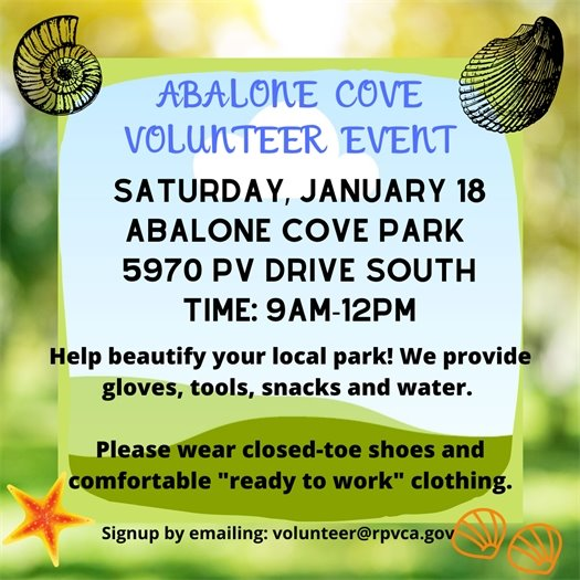 Abalone Cove volunteer day 1.18.20