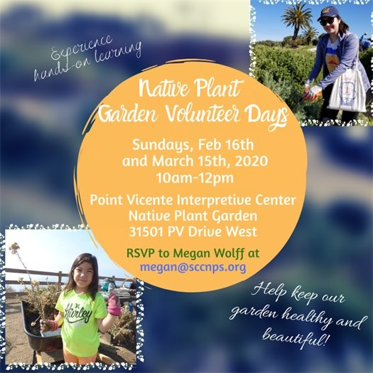 Native Plant Garden Volunteer Days