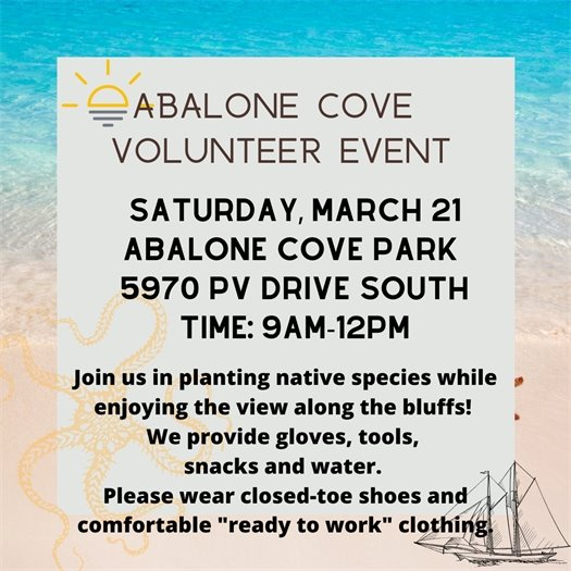 Abalone Cove Volunteer Event - March 21, 2020