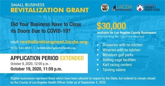 Small Business Revitalization Grants