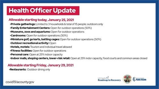 Health Officer Update
