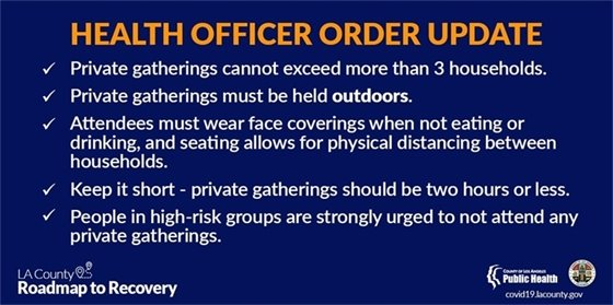 Health Officer Order Update