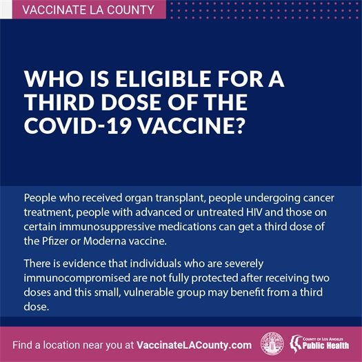 Who is eligible for a third dose?