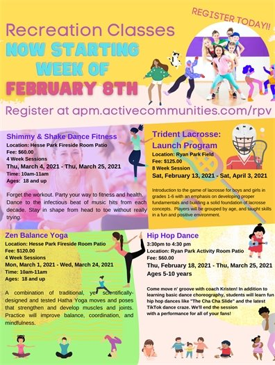 Outdoor Recreation Classes Start Week Of February 8