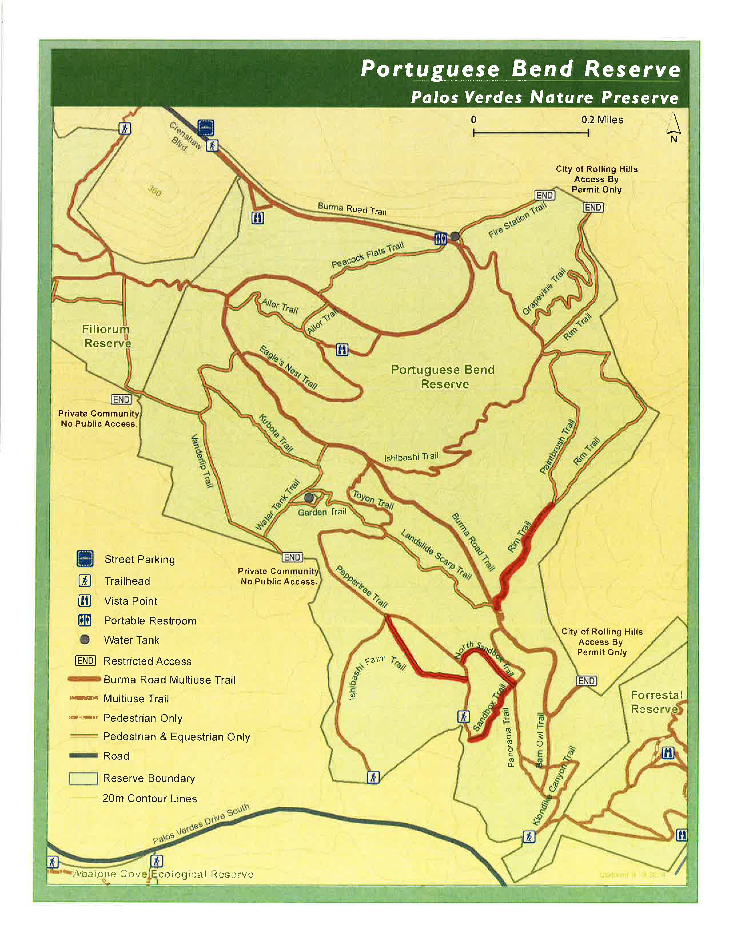 Poruguese Bend Trails closed