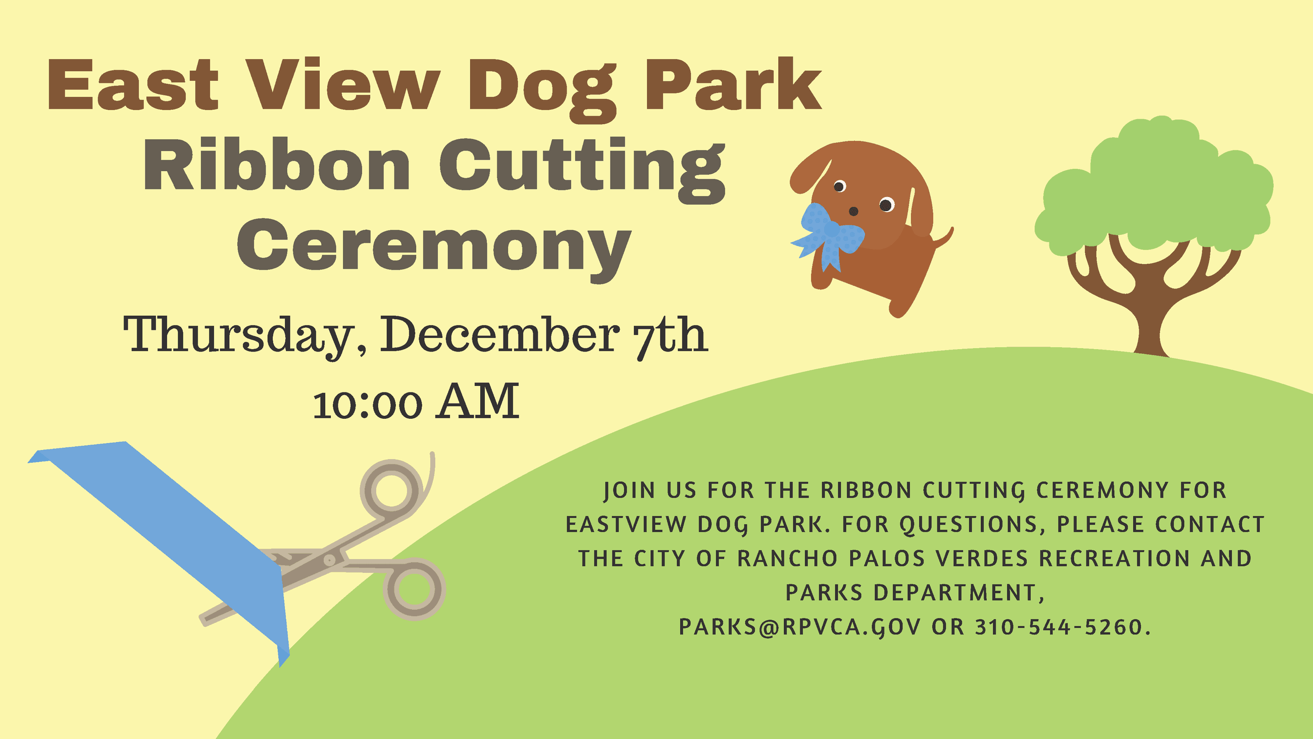 Eastview Dog Park Ribbon Cutting Ceremony