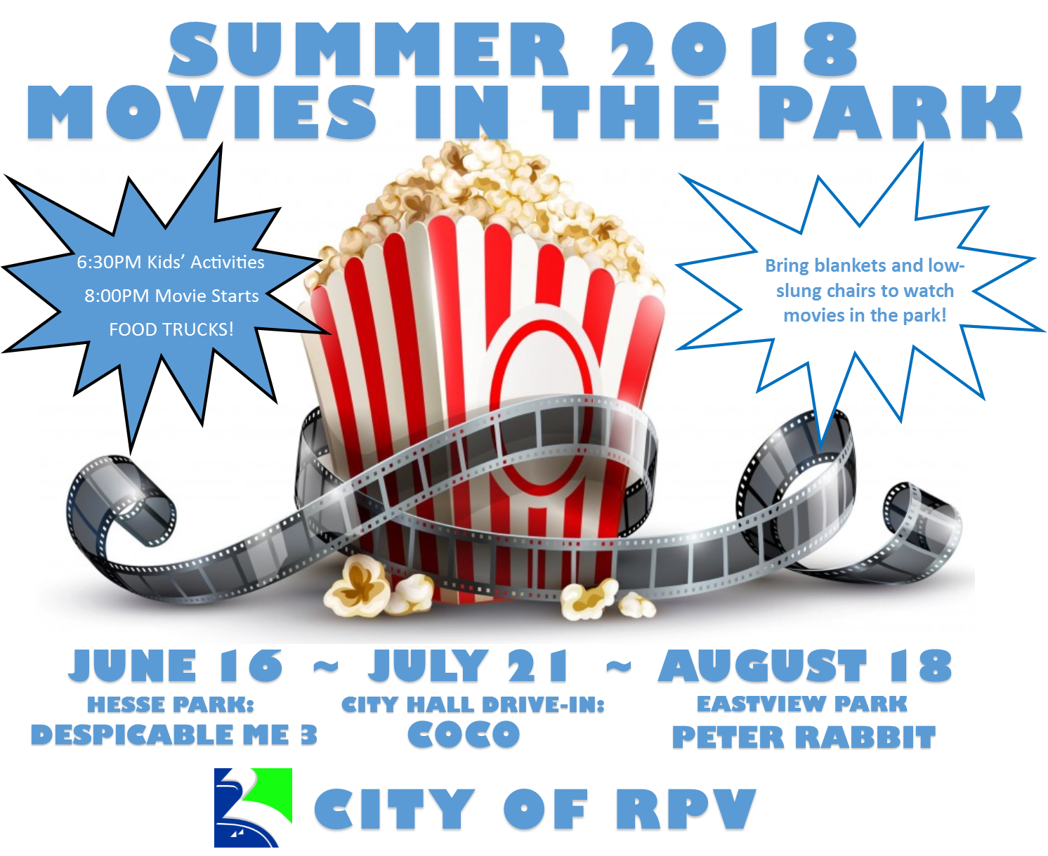 Summer 2018 RPV Movies In Park Series