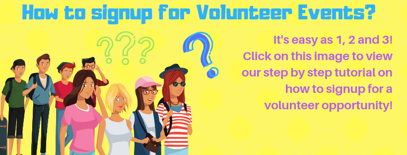 How to signup for Volunteer Events_