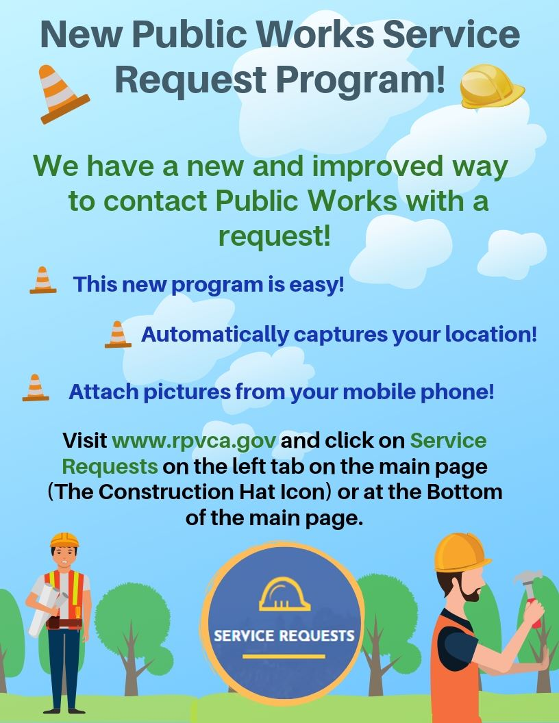 New Public Works Service Request