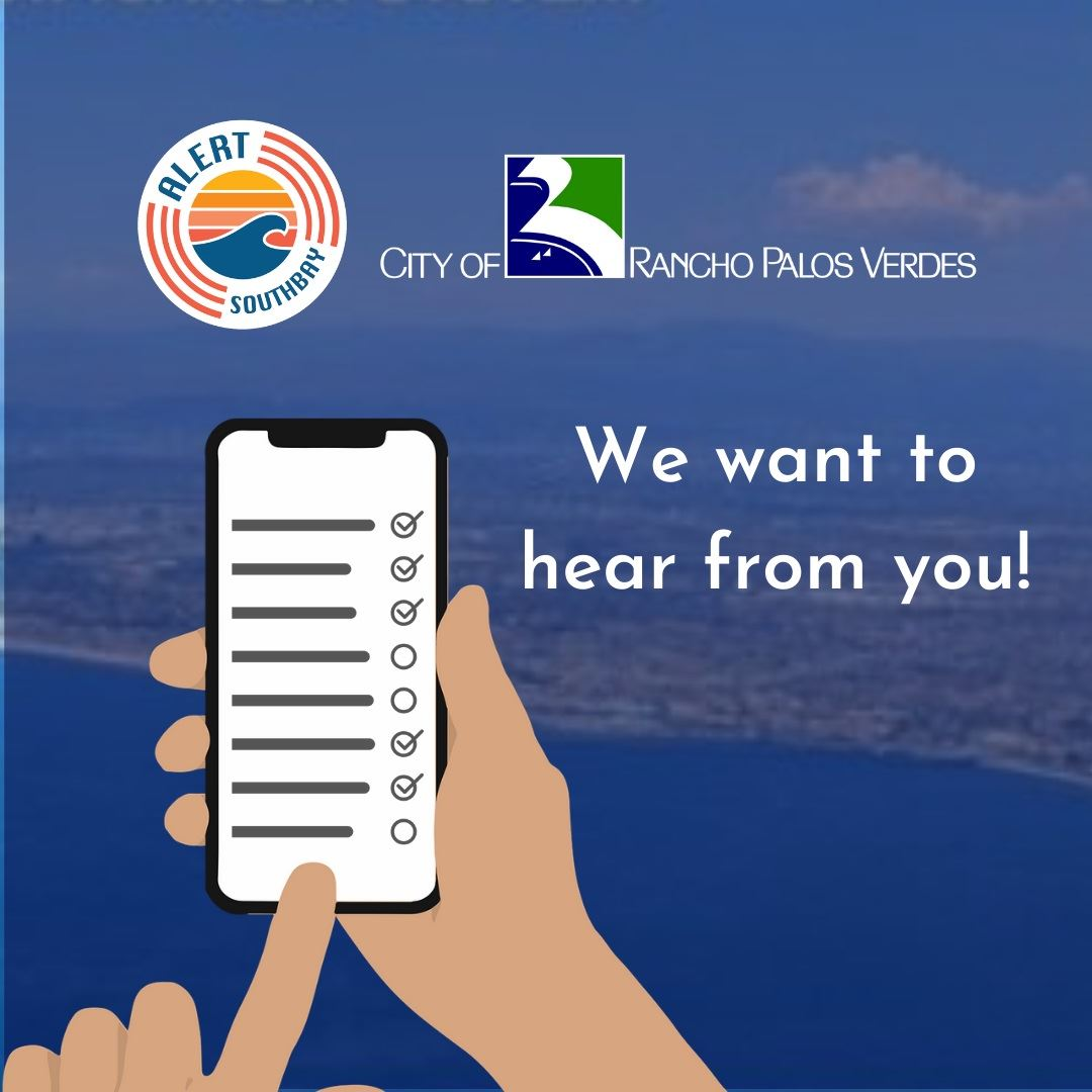 The AlertSouthBay cities want to hear from you!