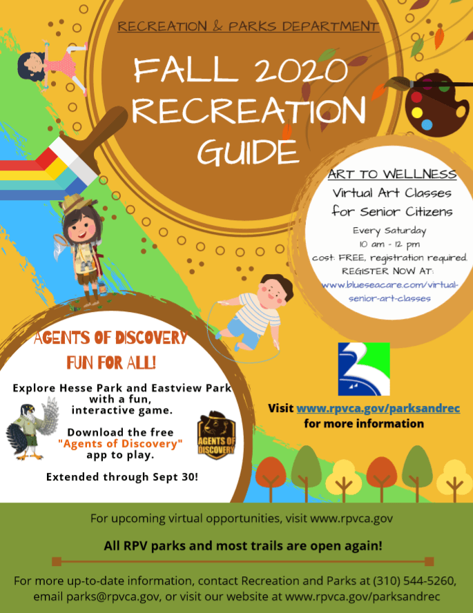 Fall Recreation Guide 2020 Final Cover