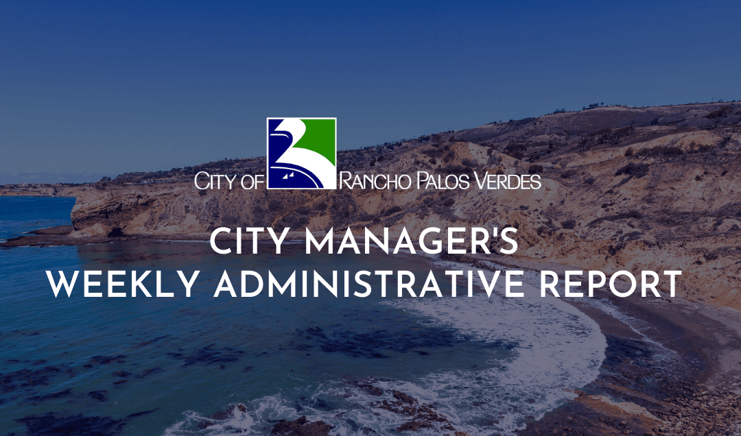 city managers weekly administrative report