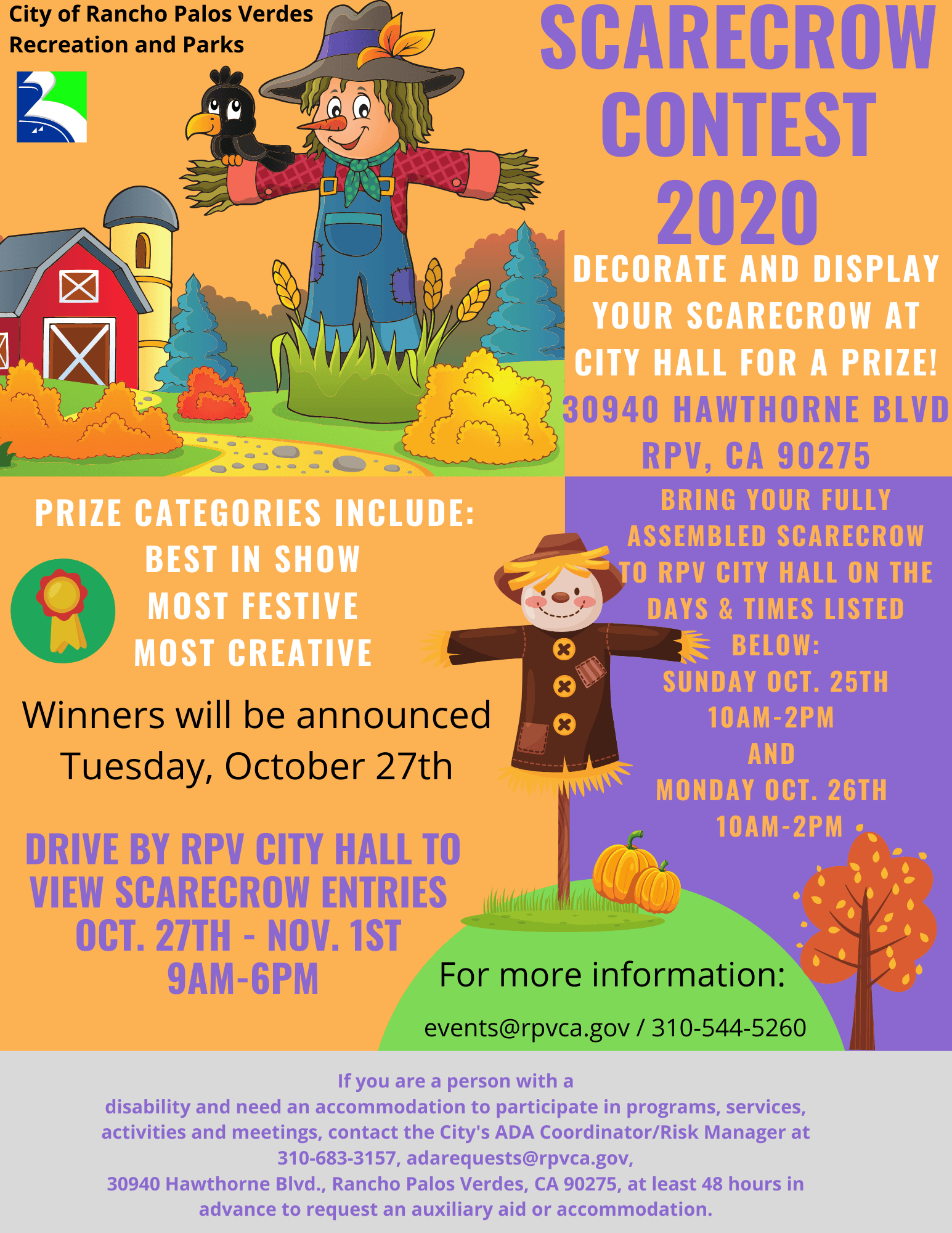 Scarecrow Contest Flyer