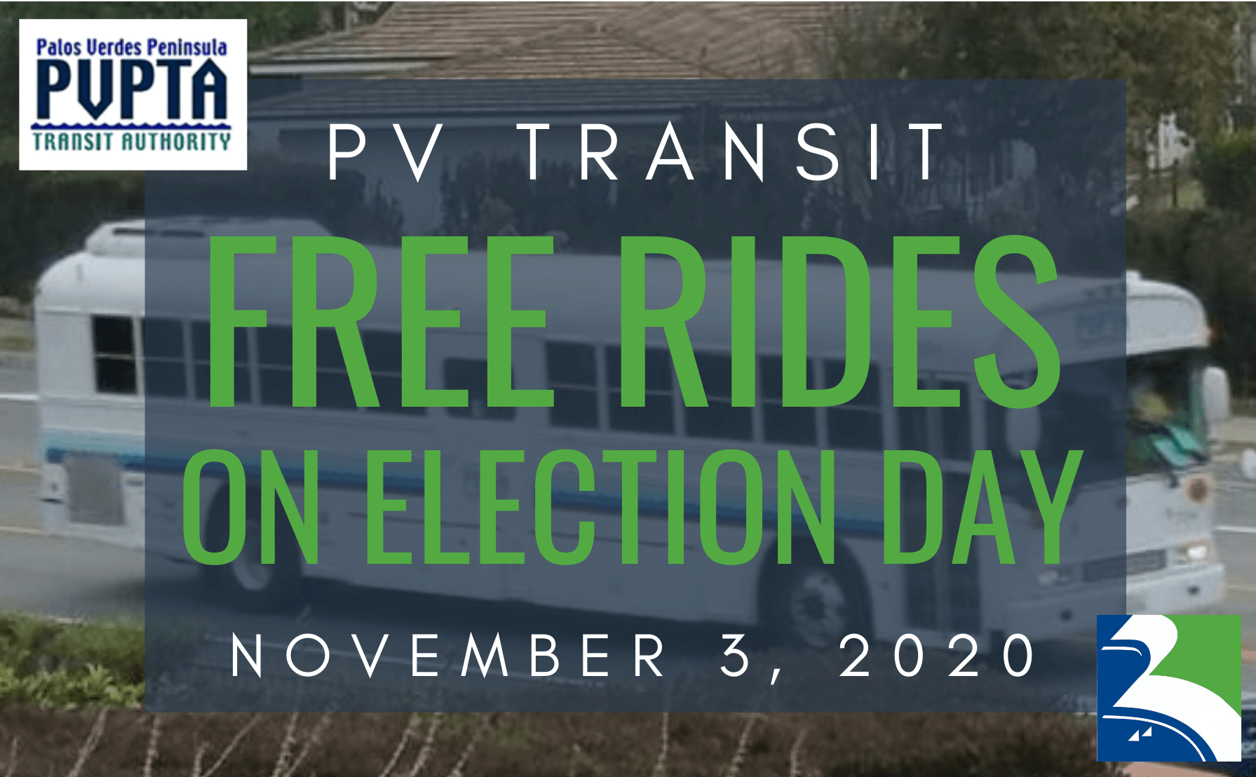 PV Transit Free Election Day Rides