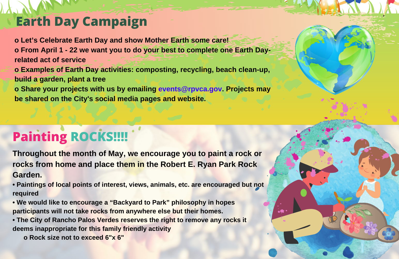 Earth Day and Painting Rocks