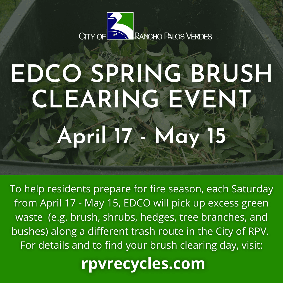 EDCO Spring Brush Clearing Event