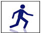 Drawing of person running
