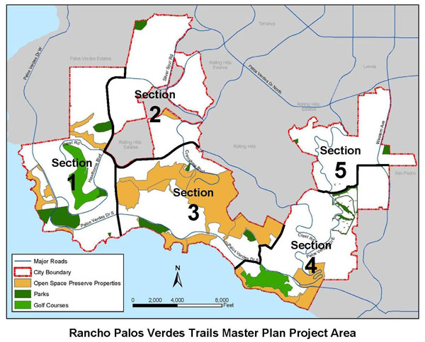 Ranco Palos Verdes Trails Master Plan Project Area