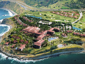 Aerial View of the Terranea Hotel Resort and Spa