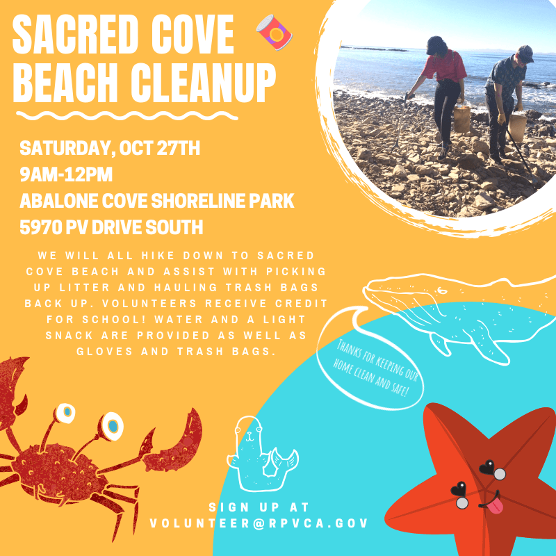 Sacred cove cleanup.10.27