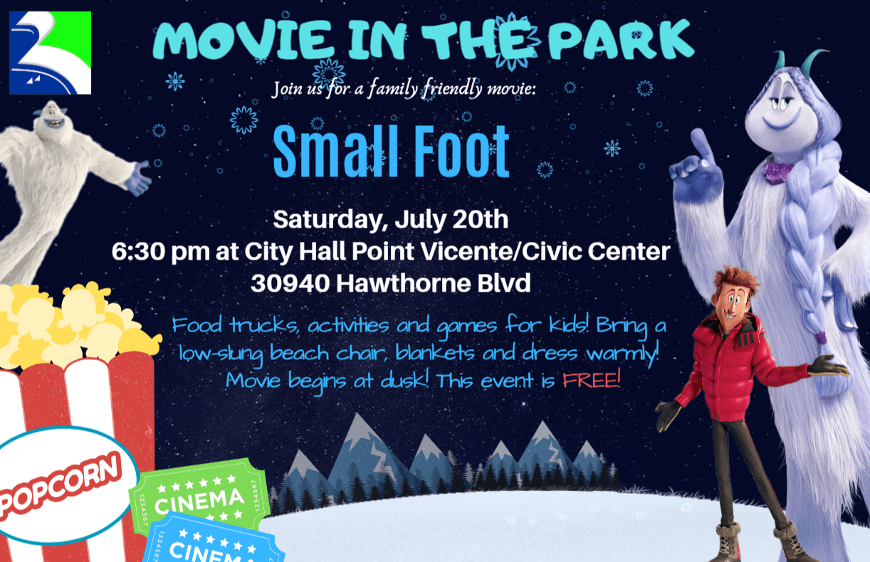 small foot movie in the park