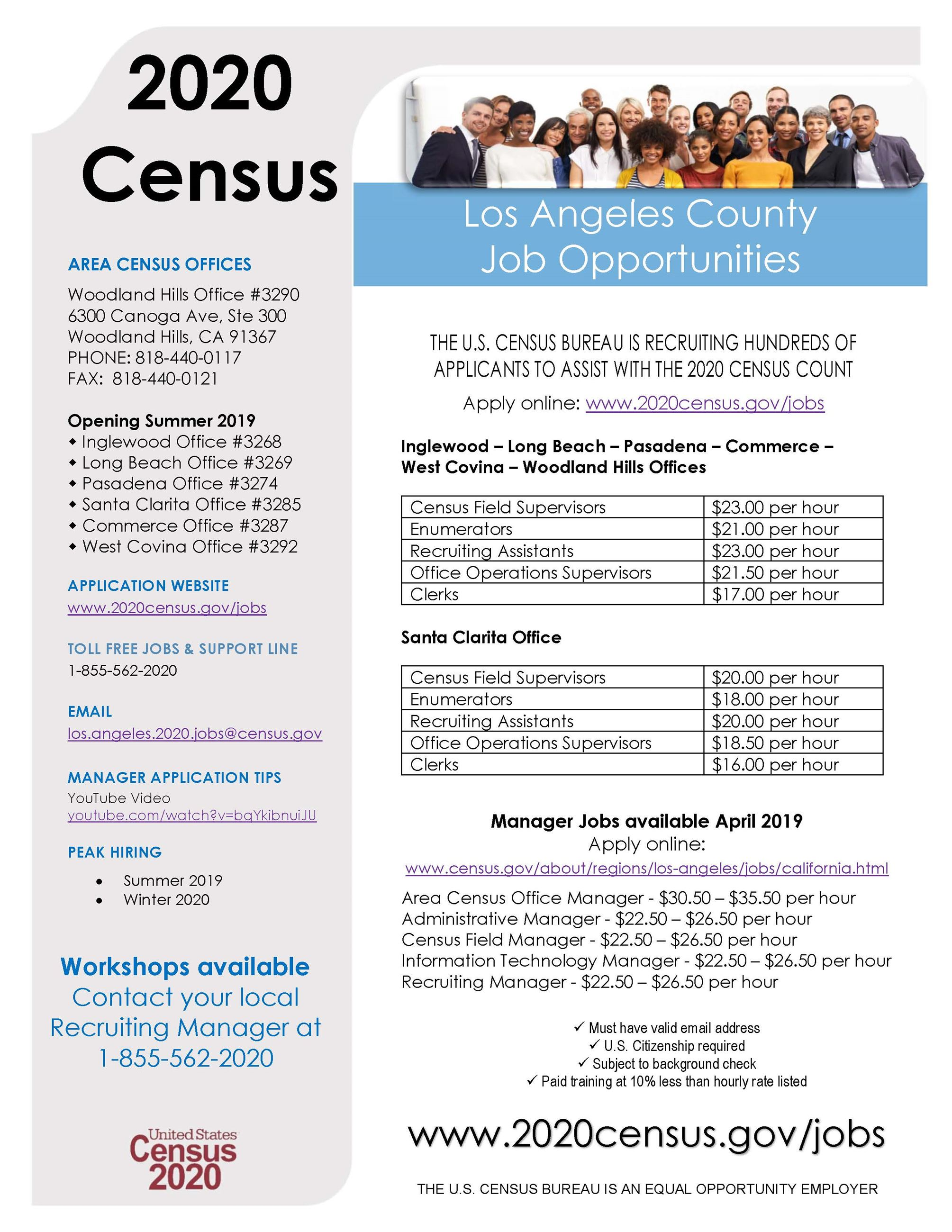LA County Census Jobs